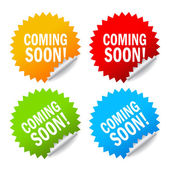 Vector coming soon labels — Stock Vector