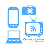 Technology communication icons — Stock Vector
