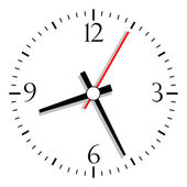 Clock vector — Vector de stock