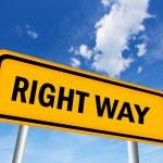 Right way — Stock Photo