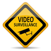 Vector video surveillance symbol — Stockvector