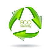 Eco friendly recycle symbol — Stock Vector