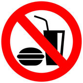 No eating vector sign — Stock Vector