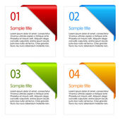 Vector information cards — Stock Vector