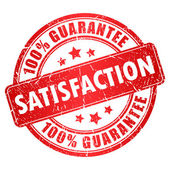 Satisfaction guarantee stamp — Wektor stockowy