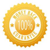 Money back vector seal — Stock Vector