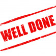 Well done stamp — Foto Stock