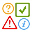 Vector alert icons — Stock Vector