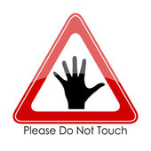 Please do not touch — Stock Vector