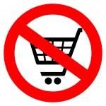 No shopping cart sign — Stock Vector
