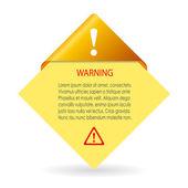 Vector warning card — Stock Vector