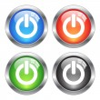 Vector power buttons — Stock vektor #28316419
