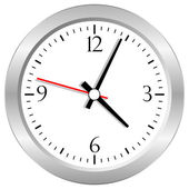 Vector clock — Vettoriale Stock