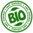 Natural bio stamp — Stock Photo