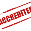 Stock Photo: Accredited stamp