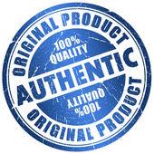 Authentic stamp — Stock Photo