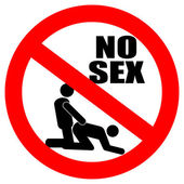 No sex vector sign — Stock Vector