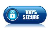 100 güvenli vektör düğmesi — Stok Vektör