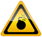 Sinal de alerta de bomba — Foto Stock