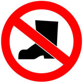 No shoes allowed — Stock Photo
