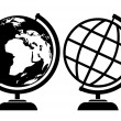 Vector globe icons — Stock Vector