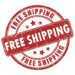 Vector free shipping stamp — Stock Vector