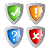 Vector shields set — Stock Vector