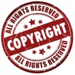 Copyright stamp — Stock Photo #30942383