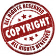 Copyright stamp — Stock Photo