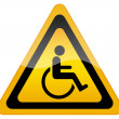 Handicap disabled sign — Foto Stock