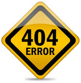 404 error sign — Stock Photo