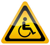 Handicap disabled sign — Zdjęcie stockowe