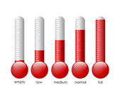 Thermometers set — Stock Vector