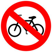 Vector sign no bicycle — Stock Vector