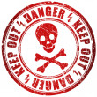 Danger stamp — Foto de Stock