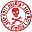 Stock Photo: Danger stamp