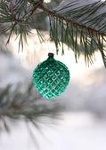 Decorated christmas tree — Stockfoto