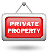Private property sign — Stock Photo