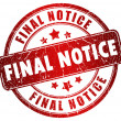 Stock Photo: Final notice stamp