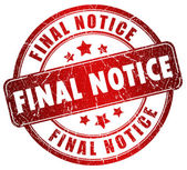 Final notice stamp — Stock Photo