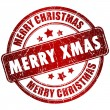 Merry christmas stamp — Stock Photo #34201161