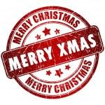 Merry christmas stamp — Stock Photo