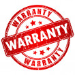 Vector de stock : Warranty vector stamp
