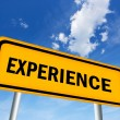 Stock Photo: Experience sign