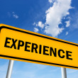 Experience sign — Stock Photo