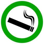 Smoking area vector sign — Stock Vector