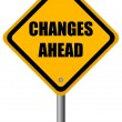 Stock Photo: Changes ahead sign