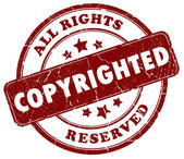Copyright red stamp — Stock Photo