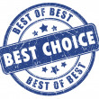 Best choice stamp — Stock Photo