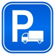 Lorry parking sign — Stockvectorbeeld